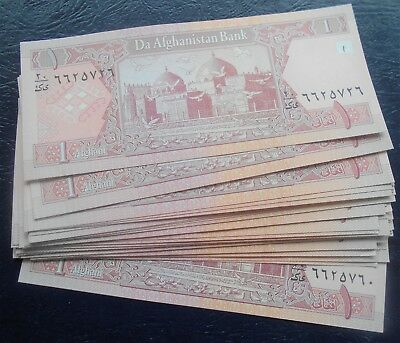 Lot (20) 2002 Bank of Afghanistan 1 Afghani Banknotes P#64 Mosque Type CU # 214
