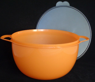 Tupperware Mega Thatsa Bowl Mixing 42 Cups Halloween Orange Black Lid Seal New