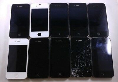 Lot of 10 Apple iPhone 4 Devices Test Failure / Fallout for PARTS OR REPAIR