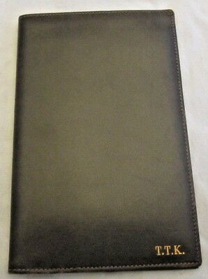 Brown Leather Passport Case - Ennio's Leather - S. Croce Florence Italy