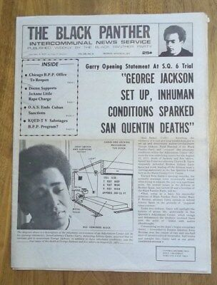 BLACK PANTHER PARTY NEWSPAPER ~ Vol. XIII #25  8/11/75 ~ Great Condition! RARE!