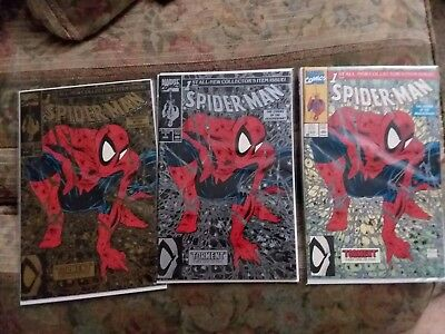 SPIDER-MAN #1 - Gold Edition, Silver Edition, regular edition