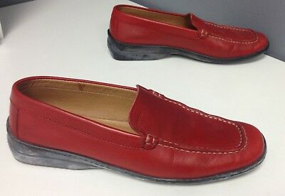 Red Suede loafers, Geox Respira 8.5