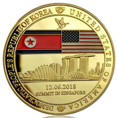 2018 President Trump-Kim Singapore Summit With Sands Hotel Challenge Coin