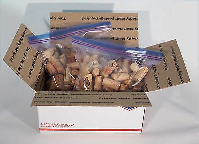 200 Wine Corks Used Many International Brands NO Synthetics Crafts Red White PM