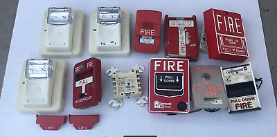 Lot Of 13 Fire Alarm Devices - Gentex, Wheelock, Honeywell, Gamewell, More (A)