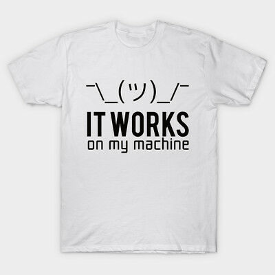 Programmer - It works on my machine Men's White Tees T-Shirt Clothing
