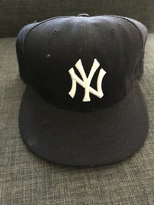 56ff9ab523907 NEW ERA 59FIFTY New York NY Yankees Game Fitted Hat (Dark Navy) MLB ...