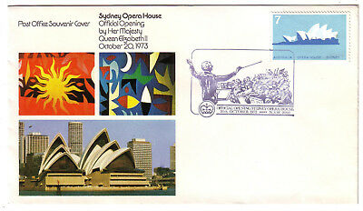 1973 Australia. Conductor Pict.PMK Opening Opera House. Opera House stamp.