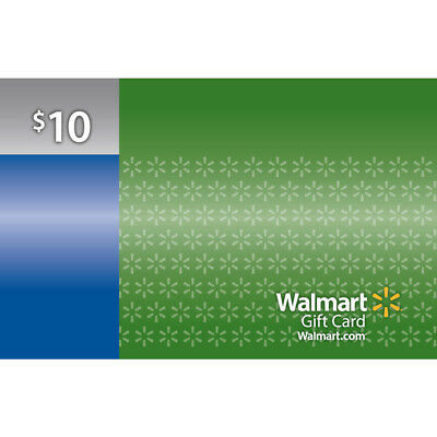 Walmart Plastic 10 Gift Card Easy To Use Check Balance In Stores Or