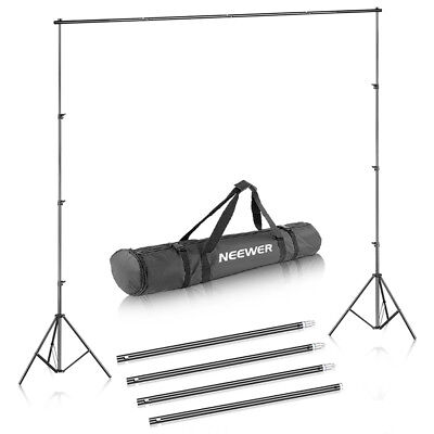 Neewer Background Support System 2.6M x 3M/8.5ft x 10ft Kit for Muslins Backdrop