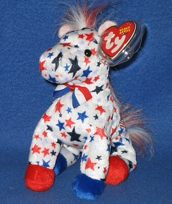 TY LEFTY 2004 the DEMOCRATIC DONKEY BEANIE BABY - MINT with MINT TAGS