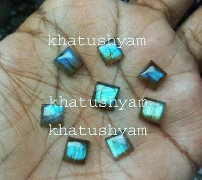 AAA Quality 10 Piece Natural Labradorite cabochon 6X6 mm square Loose Gemstone