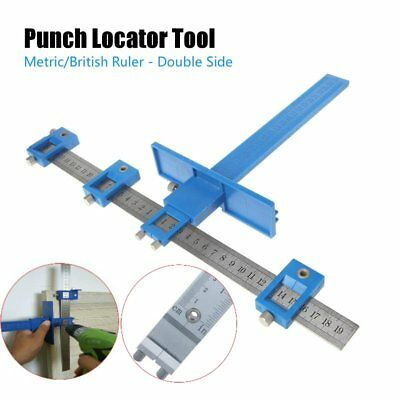Punch Locator Drill Guide Sleeve Cabinet Hardware Jig Drawer Pull Wood Dowelling