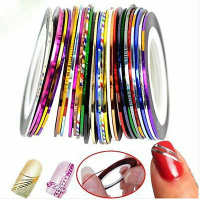 BROKEN GLASS NAIL FOIL 18 Colors NAILS EFFECT Stickers Shattered