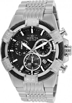 Invicta 25862 Bolt Black Dial Stainless Steel Chronograph Men's Watch
