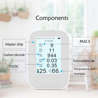 Home Digital Laser LED PM2.5 Detector Air Quality TVOC/HCHO Gas Meter Monitor UK