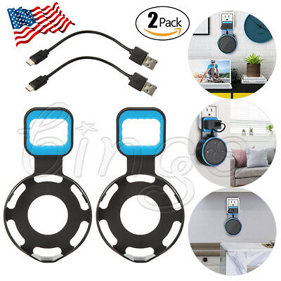2 Pack Outlet Wall Mount Hanger Holder Stand for Amazon Echo Dot 2nd Generation