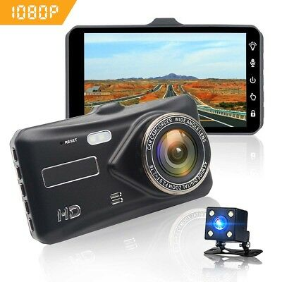 1080P Car DVR Dual Dash Cam Camera Vehicle Front Rear Rearview HD Video Recorder