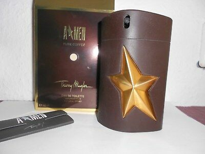 Thierry Mugler - A*MEN Pure Coffee, Edt, 100 ml Flakon, LEER mit Schachtel