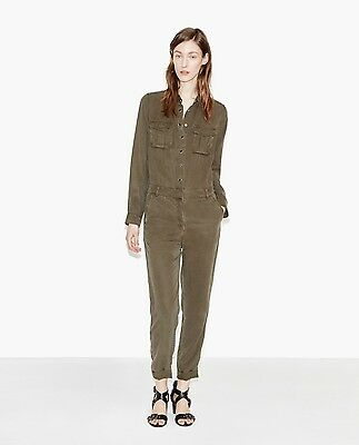 ed234cb4157 New The Kooples Khaki Trousers Jumpsuit Military Style Xs S- 100% Authentic