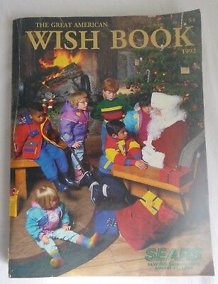 1992 SEARS Catalog The Great American Wish Book Christmas Gifts Toys Clothes