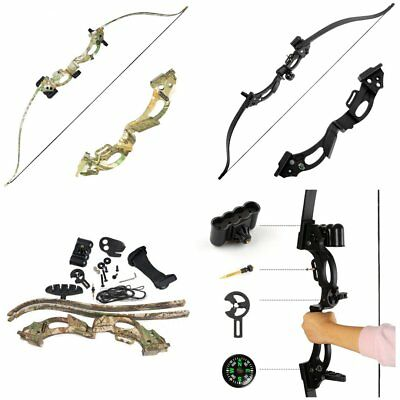 """Archery Takedown Recurve Bow ABS 48"""" Hunting Arrow Rest Games Practice Camo Men"""