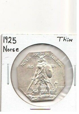 1925 Norse Medal Thin Planchet