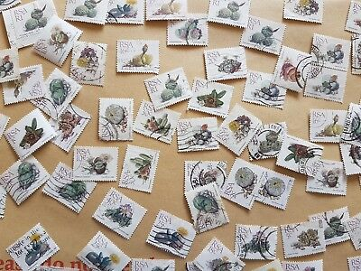 62 Stamps from RSA of desert plants-used- off paper