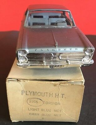 Jo-Han Promo 1966 Plymouth Hardtop Light Blue See Pics And Description