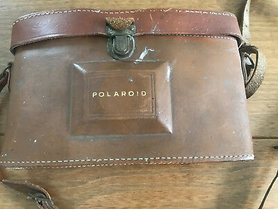 Early Vintage Polaroid Land Camera 800 Clean Folding Camera In Case Untested