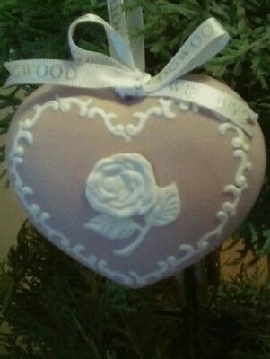 Wedgewood Breast Cancer Awareness Rose Heart Shaped Ornament