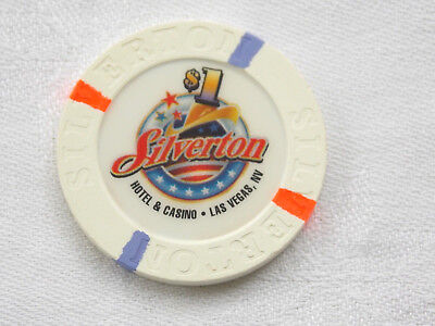 1 $ Poker Chip /casino * Silverton * 1. Motiv / Las Vegas / Nevada / Usa