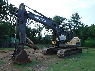 "2012 Volvo EC220DL Track Excavator A/C Heat 47"" Tooth Bucket Mechanical Thumb"