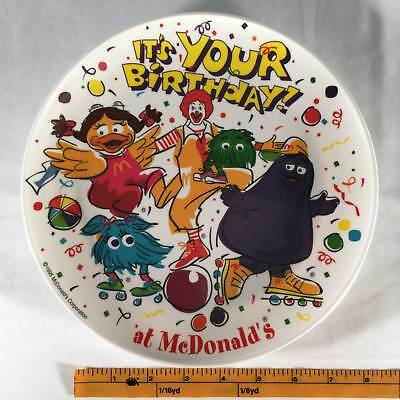 "MCDONALDS 1995 Plastic Plate BIRTHDAY Party 9.5"" Ronald And Friends McDonald's"