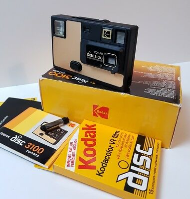 Vintage Disc 3100 Camera +Original box +New Disc