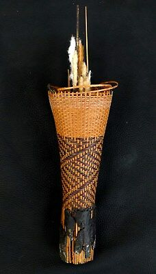 Maku Indian Tribe Columbia Blowgun Dart Container Quiver Amazon Museum Piece
