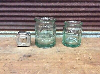 🔥 2 Antique Apothecary Pharmacy Bottle Wide Mouth-L@@k