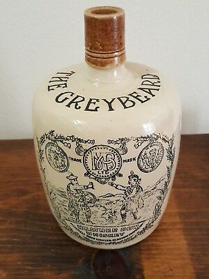 Antique Pottery Whiskey Jug