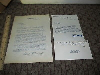 2 TED (EDWARD) KENNEDY Signed Letters Environment & Campus/College Unrest