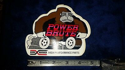 Vintage Borg Warner Power Brute Gorilla Sticker
