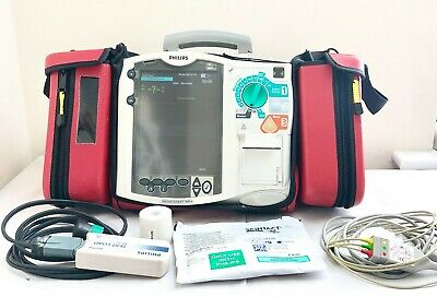 Philips Mrx Heartstart Aed Defib & Pacer + 3 Lead Ecg Cable, Case Printer M3536A