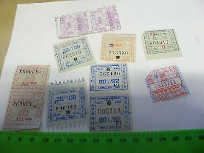 Lot of 10 Genuine used Bangkok Thailand Bus Tickets..& 3 Temple Money (.A.)
