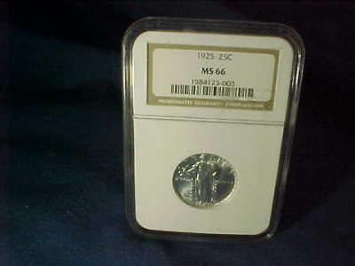 NGC Graded 1925 STANDING LIBERTY QUARTER MS 66
