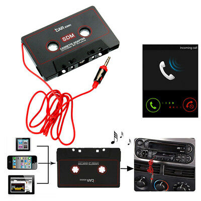 Black Cassette Audio Adapter Car 3.5mm for iPhone MP3 Android XG AUX New Sale