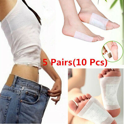 5 Pairs Detox Foot Pads Patch Detoxify Toxins Adhesive Keeping Fit Health Care