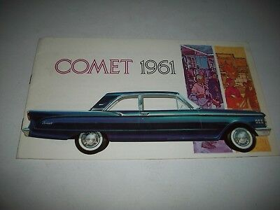 1961 Mercury Comet Canadian Issue Sales Brochure 2 Door 4 Door Station Wagons