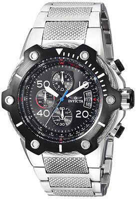 Invicta 25464 Bolt Black Dial Stainless Steel Chronograph Men's Watch
