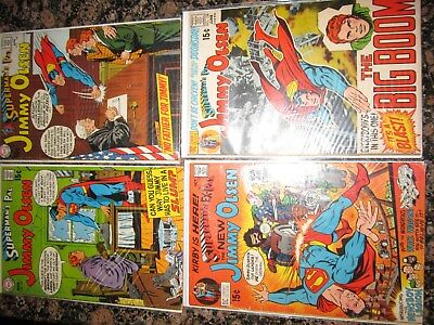 Supermans Pal Jimmy Olsen 127 128 132 133 136 138 141 142 VG F DC comic estate