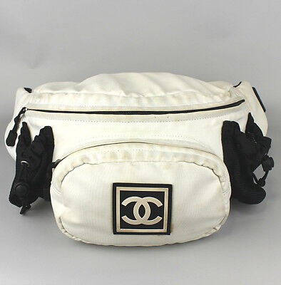 dc258faef96715 CHANEL Sports Line Nylon Bum Bag Waist Pouch #42469 free shipping from Japan